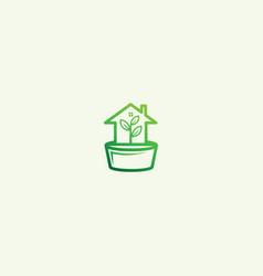 Home agriculture logo design vector