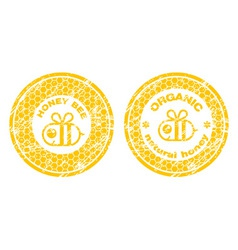 Honey stamp vector