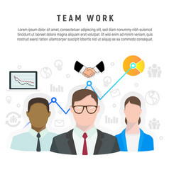 Infographic of team work in flat style vector