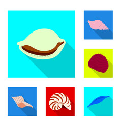 isolated object of animal and decoration symbol vector image