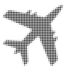 Jet plane halftone icon vector