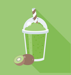 Kiwi smoothie or juice vector