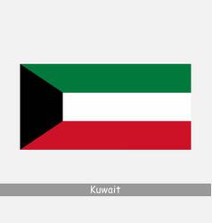 Kuwait kuwaiti national country flag banner icon vector