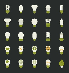 Lamp and light bulb concept icon set vector image