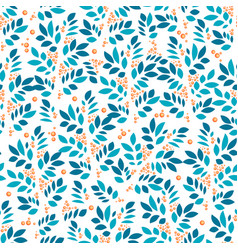 leaves endless textured pattern with leaf and vector image