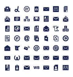 Letter icons vector