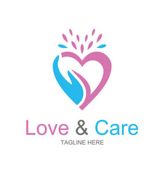 Love and care logo vector