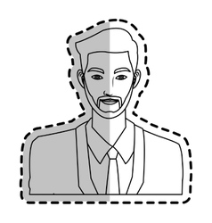 man cartoon icon vector image