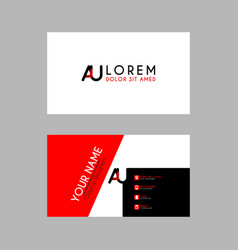 modern creative business card template with au vector image