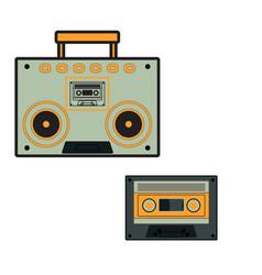 Music player radio icon cassette tape vector