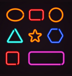 neon light borders vector image