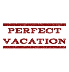 Perfect vacation watermark stamp vector