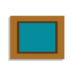 picture in wood frame icon cartoon style vector image