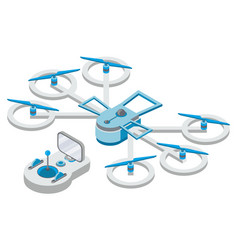 quadcopter and remote controller drone vector image