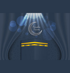 ramadan backgrounds ramadan kareem with kaaba vector image
