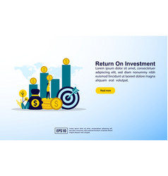 return on investment concept with icon and vector image