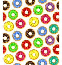 seamless background donuts with pastry pads vector image