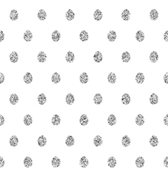 Seamless Background With Silver Eggs vector