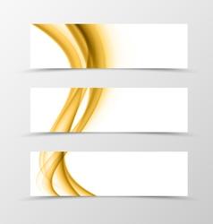 Set of header banner wavy design vector image