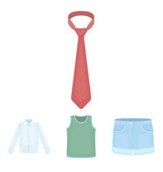 shirt with long sleeves shorts t-shirt tie vector image vector image