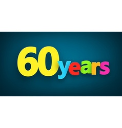 Sixty years paper sign vector