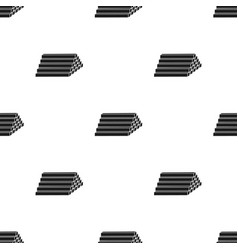 Stack of lumbers icon in black style isolated on vector