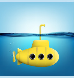 submarine with periscope underwater vector image