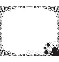 Swirl borde background vector