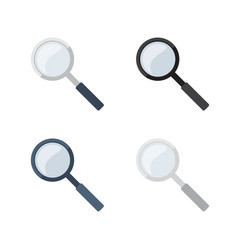 Transparent magnifying glasses collecion vector