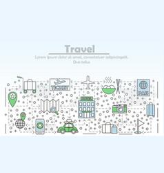 travel advertising flat line art vector image