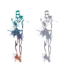 trendy look girls vector image