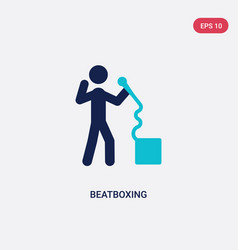 Two color beatboxing icon from activity and vector