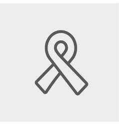 Unity ribbon thin line icon vector