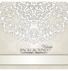 Vintage beige elegant invitation card vector