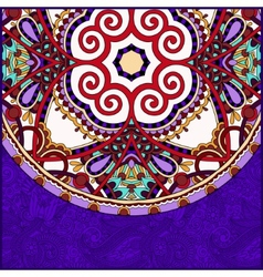 Violet colour ornamental floral template with vector