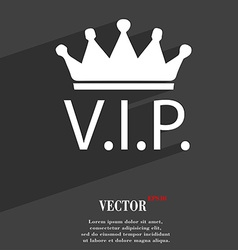 Vip icon symbol Flat modern web design with long vector image