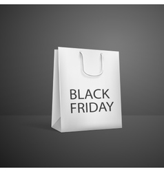 Black Friday Shopping bag sale promotion poster vector image