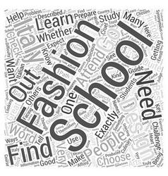 fashion design school italy Word Cloud Concept vector image vector image