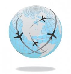 global travel vector image