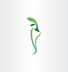 green pepper logo icon design vector image