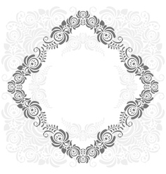 grey and white vintage frame vector image