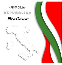 italian national rebuplic day vector image vector image