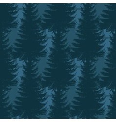 Layered pine forest seamless pattern vector image vector image