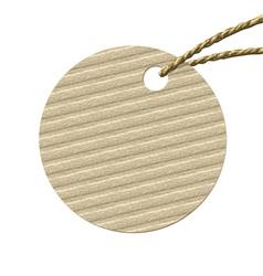 round cardboard tag vector image
