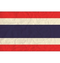 Thailand paper flag vector image