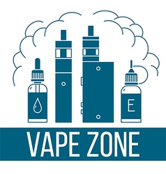 Vape icons set vector image