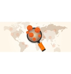 Virus outbreak spread pandemic around the world vector