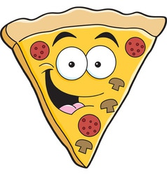 Cartoon slice of pizza vector image vector image