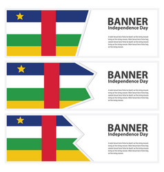 central african republic flag banners collection vector image