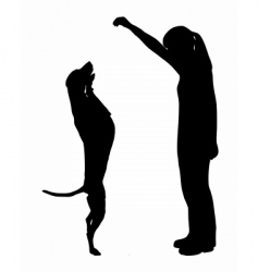 dog training obedience vector image vector image